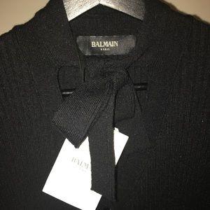 Balmain Paris A/W 16' Ribbed Midi Dress